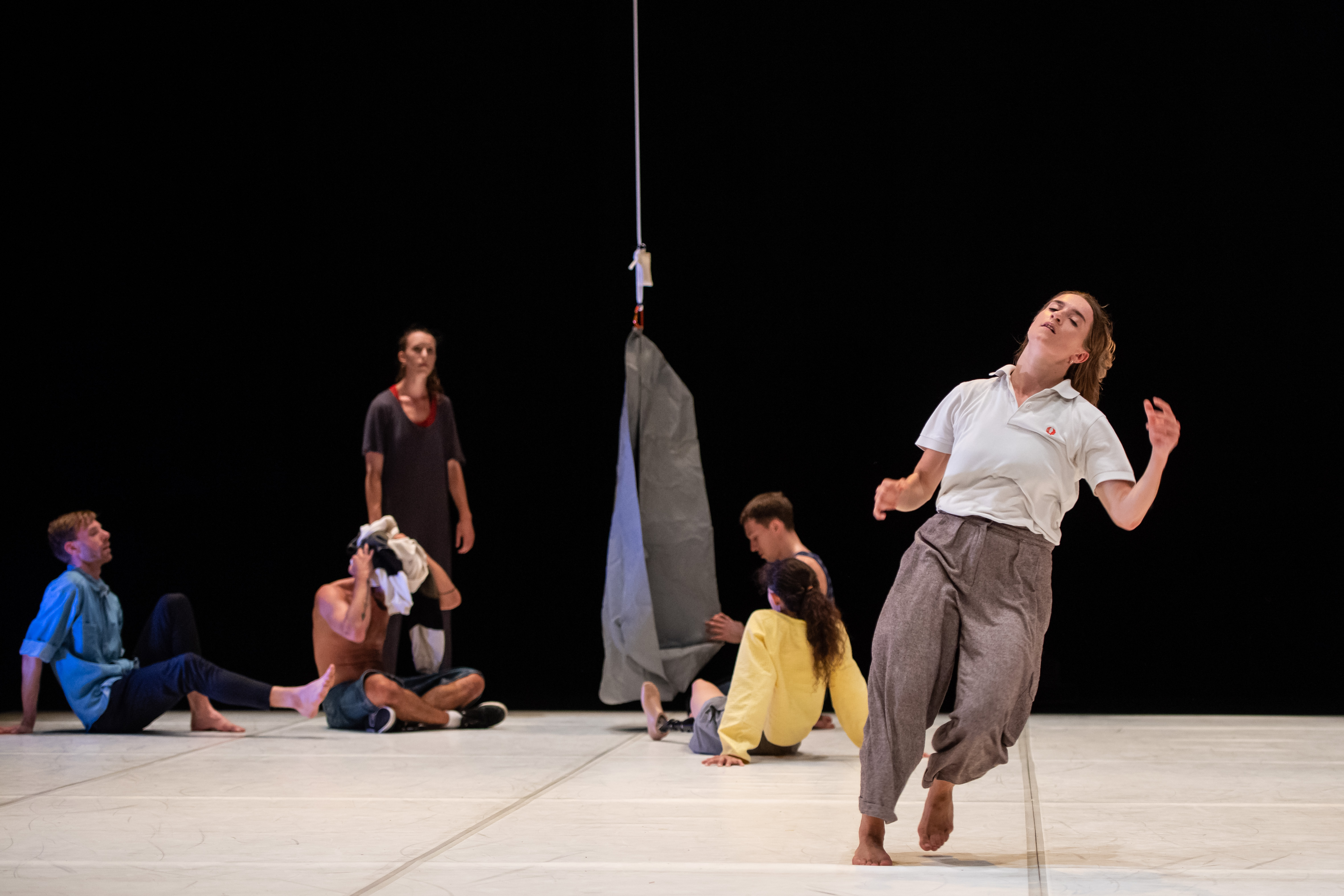 Candoco perform Hot Mess, choreographed by Theo Clinkard performed at Laban Theatre, London, UK, 25th July 2019