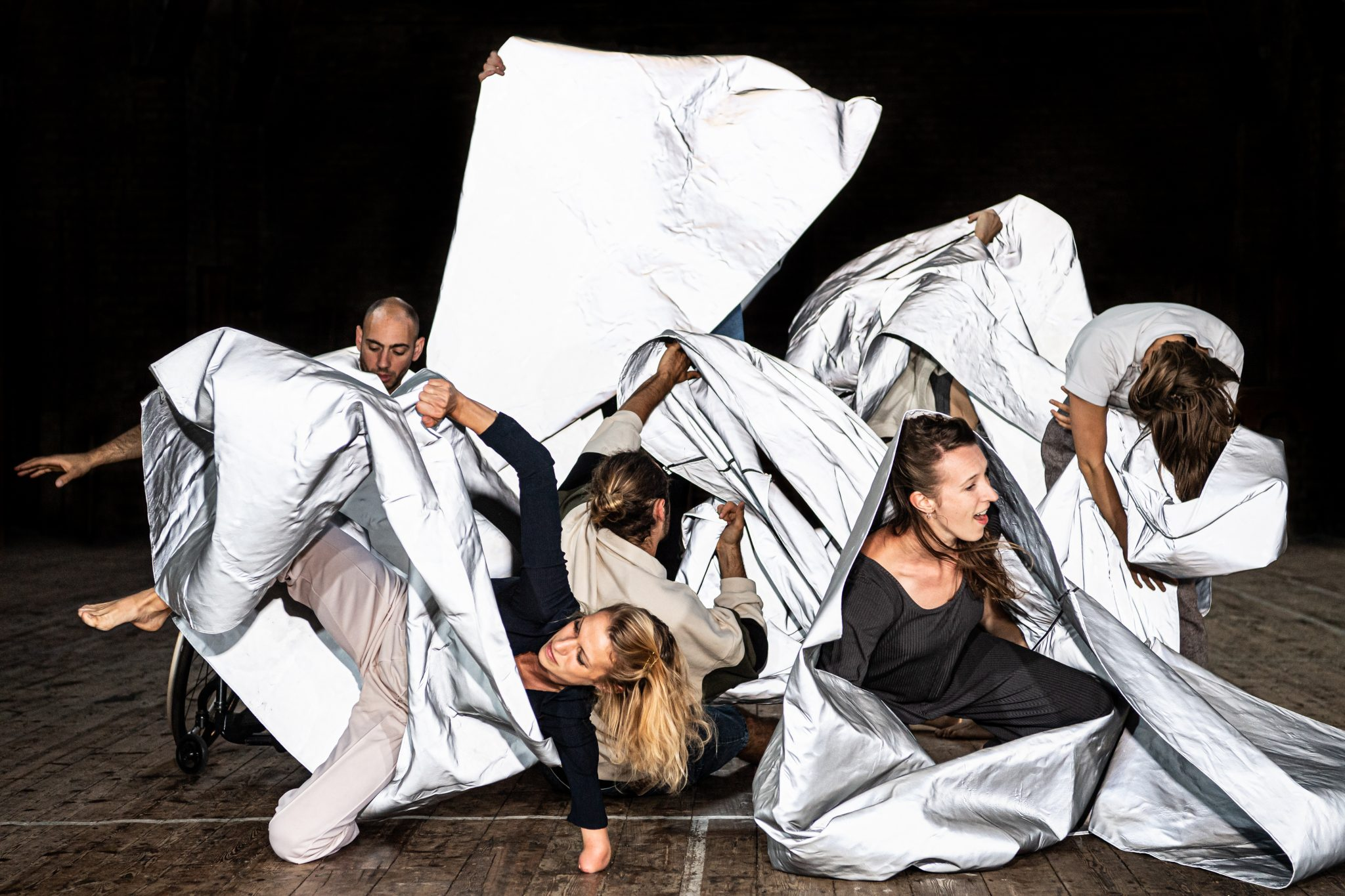 Promotional shoot for Hot Mess choreographed by Theo Clinkard and danced by Candoco, London, UK, 16th July 2019