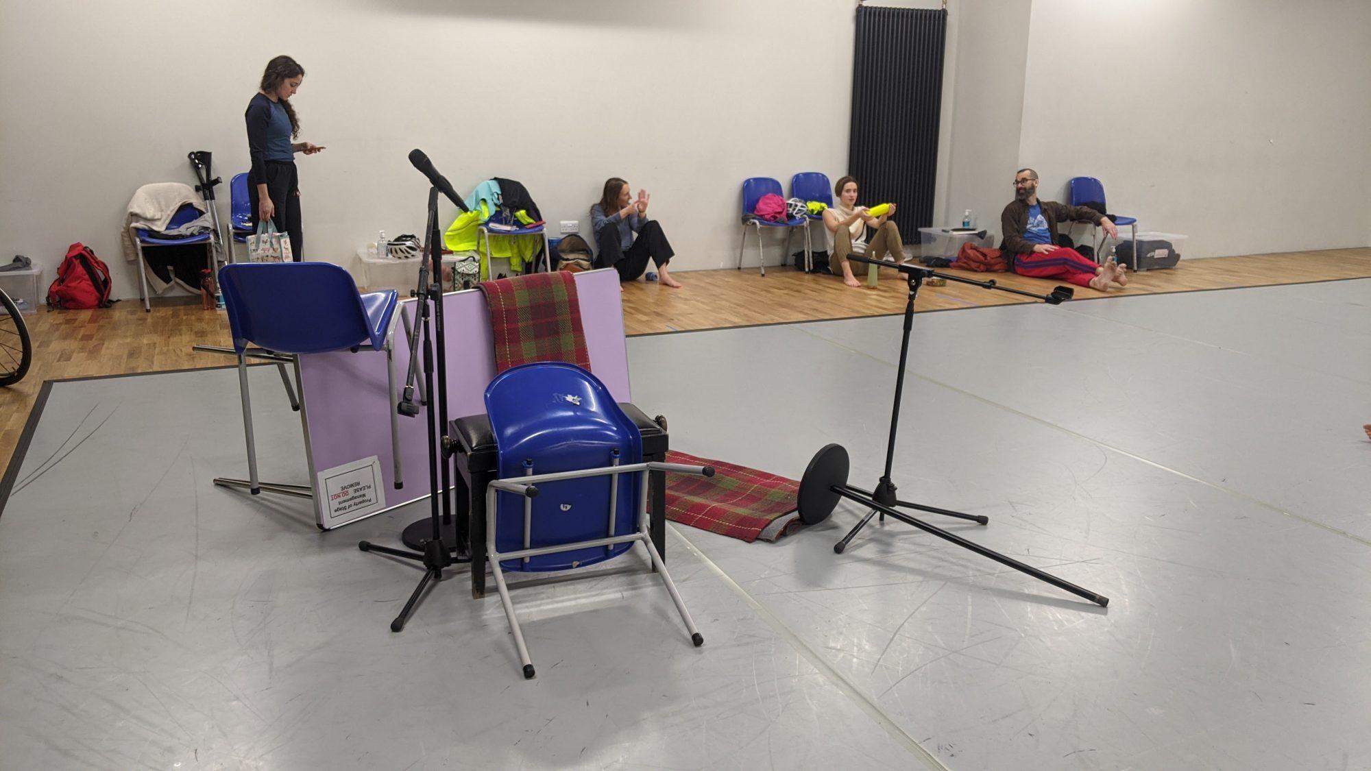 Objects in Studio Last Shelter Rehearsal